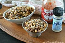 Spicy Buffalo Mixed Nuts from www.EverydayMaven.com