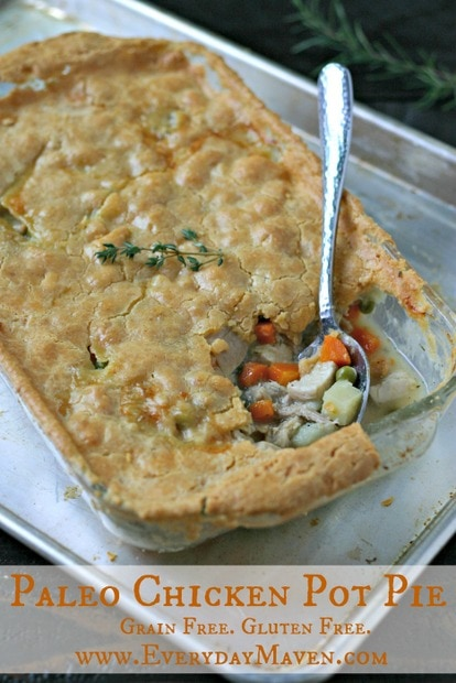 Paleo Chicken Pot Pie from www.EverydayMaven.com