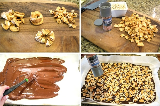 collage of steps to make hanukkah candy