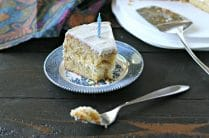 Grain Free Vanilla Bean Birthday Cake from www.EverydayMaven.com