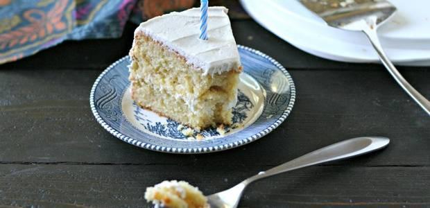 Grain Free Vanilla Bean Birthday Cake