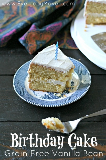 Grain Free Vanilla Bean Birthday Cake