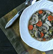 Turkey and Wild Rice Soup from www.EverydayMaven.com