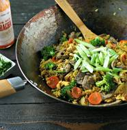 Turmeric Fried Rice with Beef from www.EverydayMaven.com