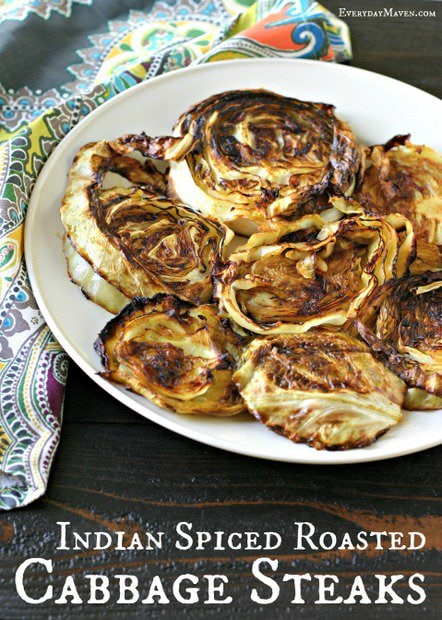 Indian Spiced Roasted Cabbage Steaks from www.EverydayMaven.com