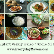 Free Jump Start {Paleo and Whole30} Weekly Meal Plan