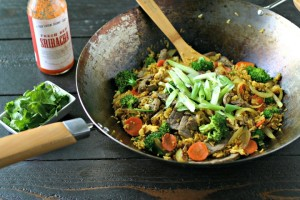 Turmeric Fried Rice with Beef