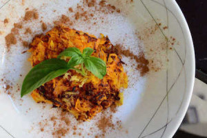 Carrot and Apple Hash with Cinnamon and Ginger from PaleoMagazine.com