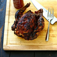 Sriracha Mayo Roasted Chicken (3 Ingredients!)