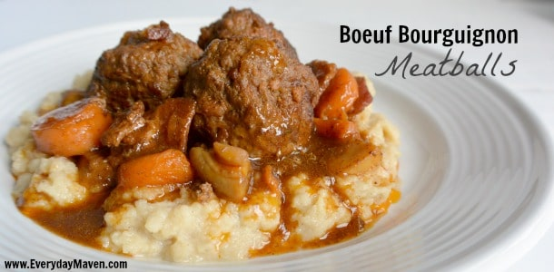 Boeuf Bourguignon Meatballs from Popular Paleo
