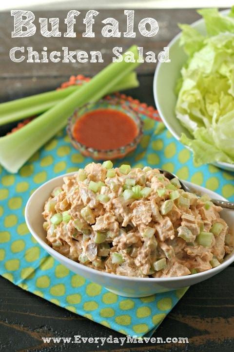 Buffalo Chicken Salad recipe from www.EverydayMaven.com