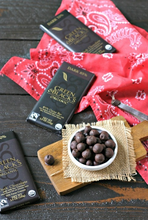 Frozen Dark Chocolate Covered Blueberries from www.EverydayMaven.com