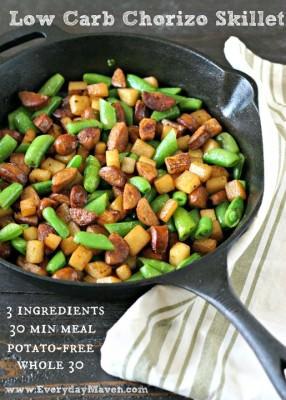Low Carb Chorizo Skillet from www.EverydayMaven.com