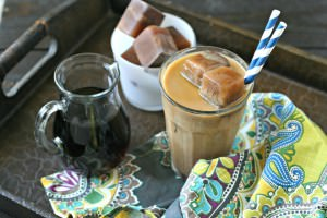 Mocha Ice Cubes for Iced Coffee from www.EverydayMaven.com