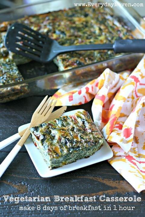 Vegetarian Breakfast Casserole from www.EverydayMaven.com