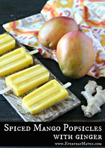 Spiced Mango Popsicles with Ginger from www.EverydayMaven.com
