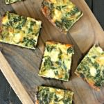 Egg Casserole with Beet Greens and Goat Cheese from www.EverydayMaven.com