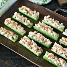 Old Bay Shrimp Celery Boats
