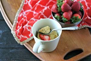 Paleo Vanilla Mug Cake (Nut Free)