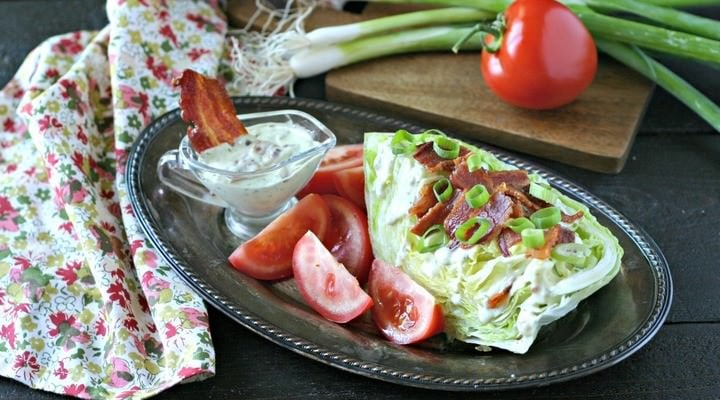 BLT Salad with Creamy Bacon Dressing