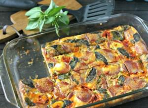 Pepperoni Pizza Egg Casserole from www.EverydayMaven.com