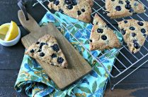 Grain Free Blueberry Lemon Scones from www.EverydayMaven.com