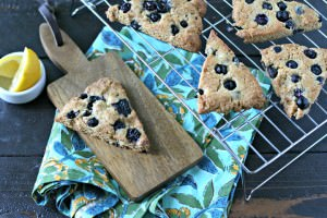 Grain Free Blueberry Lemon Scones