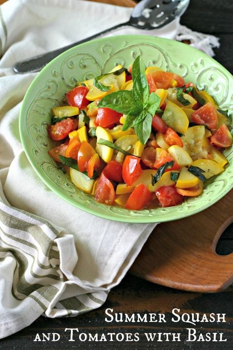 Summer Squash and Tomatoes with Basil from www.EverydayMaven.com