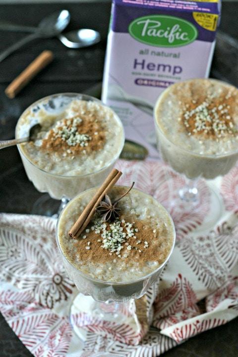 Spiced Hempmilk Tapioca Pudding from www.EverydayMaven.com