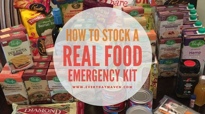 How To Stock a Real Food Emergency Kit {FREE Downloadable Menu and Shopping List}