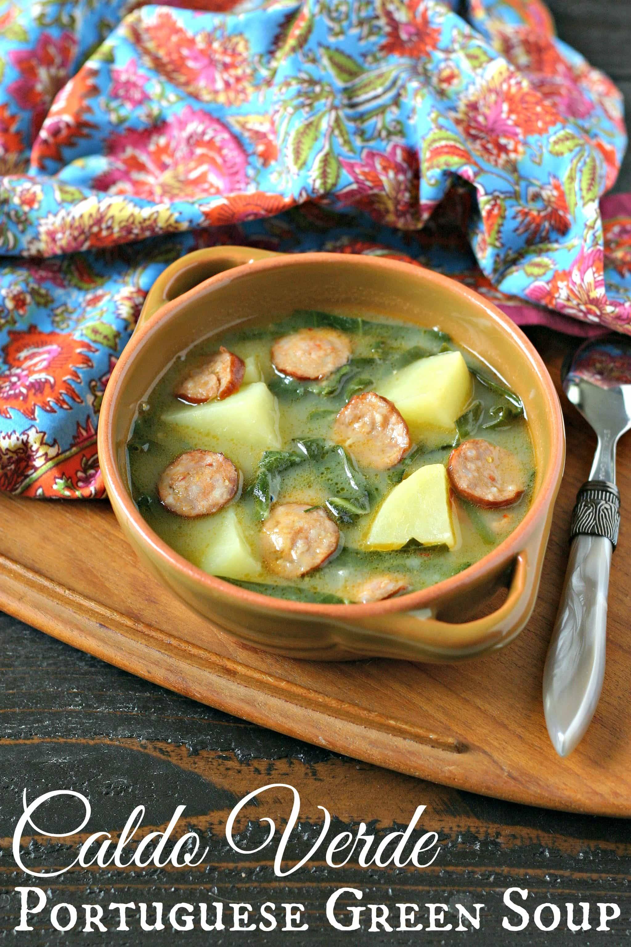Caldo Verde Soup {Portuguese Green Soup} from www.EverydayMaven.com