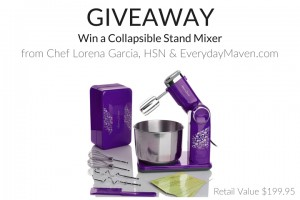 Chef Lorena Garcia Collapsible Stand Mixer Giveaway from www.EverydayMaven.com