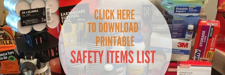 Printable Shopping List for 72-Hour Emergency Kit from www.EverydayMaven.com