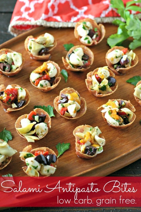 Salami Antipasto Bites from www.EverydayMaven.com