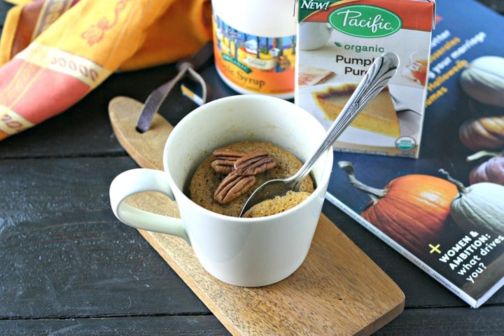 Paleo Pumpkin Mug Cake from www.EverydayMaven.com
