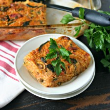 Spicy Sausage and Vegetable Spaghetti Squash Casserole