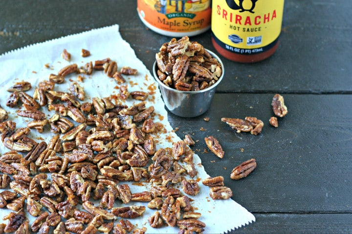 Sweet and Spicy Pecans from www.EverydayMaven.com