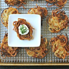 Spiralized Potato Latkes {Grain Free}