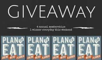 How I Menu Plan plus 4 Giveaway this weekend!