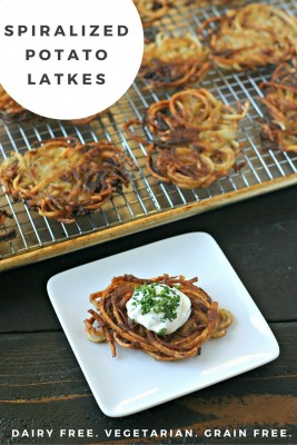 Spiralized Potato Latkes from www.EverydayMaven.com
