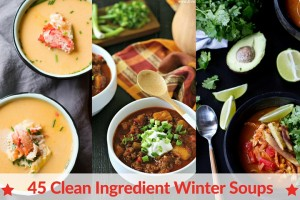 45 CLEAN EATING WINTER SOUPS from www.EverydayMaven.com