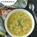 Chicken Rice Soup with Turmeric from www.EverydayMaven.com