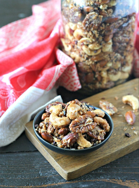 Toasted Coconut Mixed Nuts (Sugar Free) from www.EverydayMaven.com