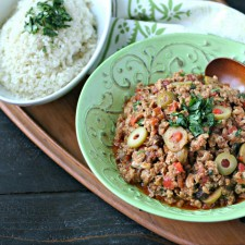 Ground Chicken Picadillo