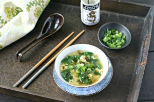 Quick Spinach Egg Drop Soup