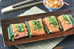 Roasted Salmon with Kimchi Butter
