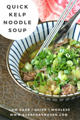 Quick Kelp Noodle Soup from www.EverydayMaven.com
