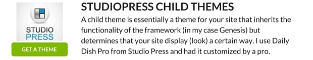 STUDIOPRESS CHILD THEMES