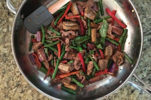 Paleo Pork and Eggplant Stir Fry