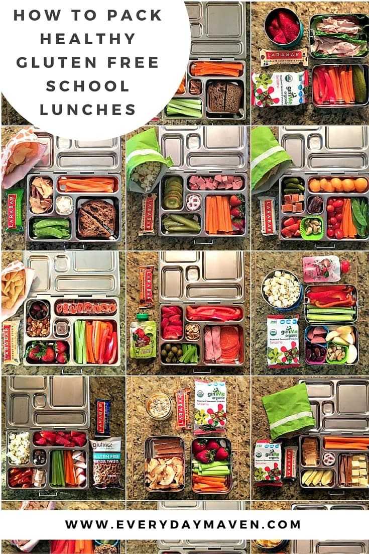 Tips and Tricks to pack interesting, creative, colorful gluten free school lunches that are quick and easy!